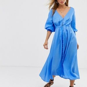 Free People Later Days Midi Dress size 10 NWT
